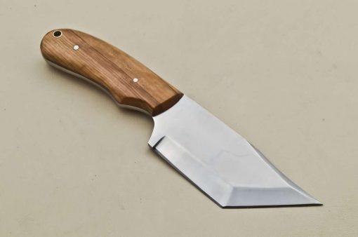 Custom-Stainless-Steel-Tanto-Hunting/Skinner-Knife-Wood-Handle