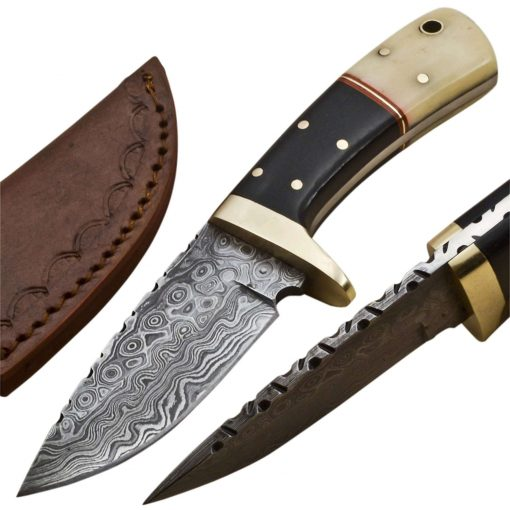 Knife-Brass-Bolster-Wood-Micarta-Handle