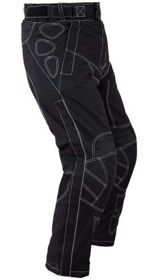 Motorcycle-Polyester-OverPants-Black-with-Removable-CE-Armor-OP-5