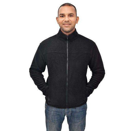 Mens-Active-Full-Zip-Soft-Fleece-Jacket-Shirt