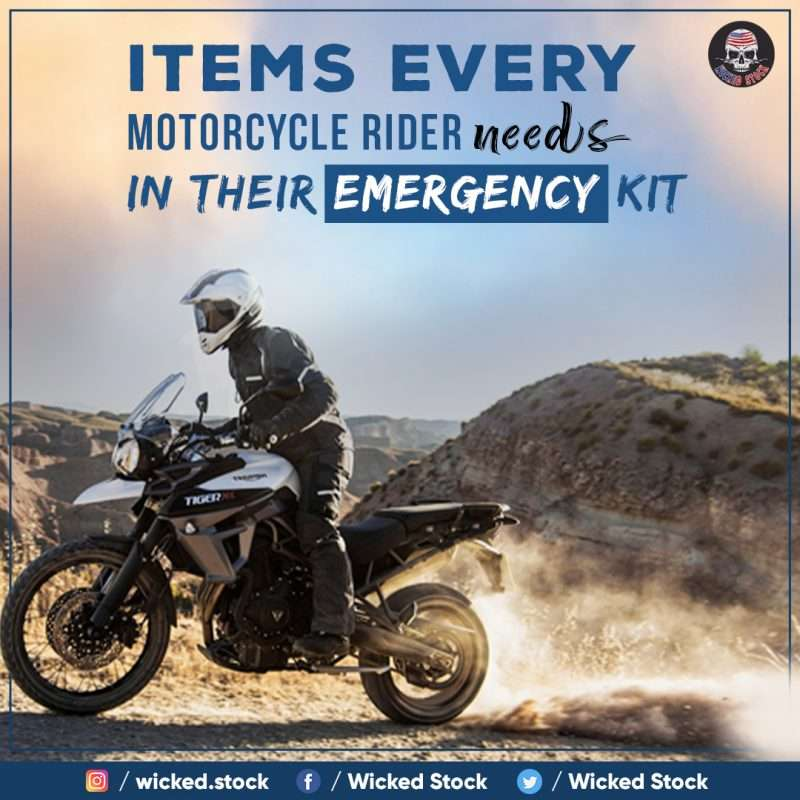 Items Every Motorcycle Rider Needs In Their Emergency Kit
